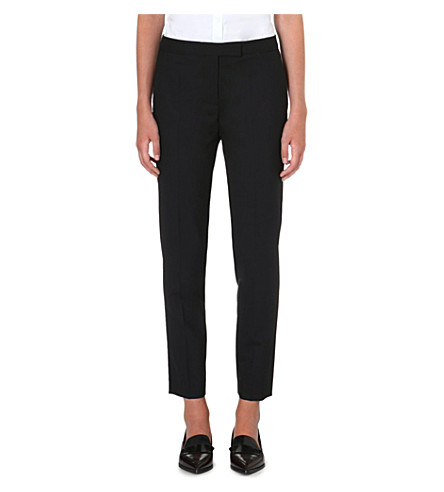 PAUL SMITH BLACK Slim-fit tapered wool trousers (Black