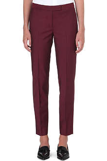 PAUL SMITH BLACK Slim-fit tapered wool-blend trousers
