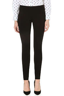 PAUL SMITH BLACK Skinny stretch-crepe trousers