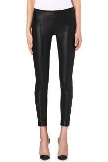 PAUL SMITH BLACK Faux-leather trousers