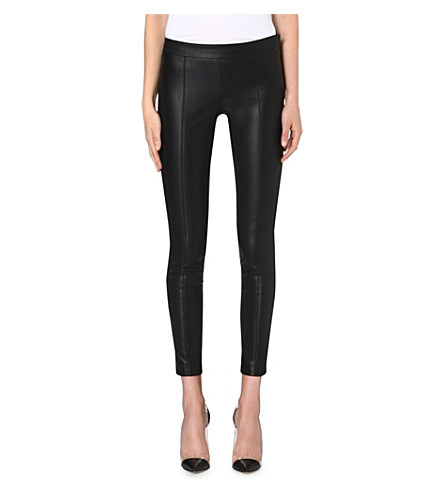 PAUL SMITH BLACK Faux-leather trousers (Black