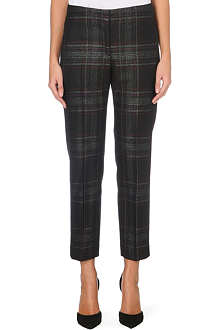 PAUL SMITH BLACK Tweed wool-blend trousers