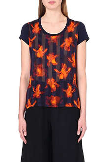 PAUL SMITH BLACK Semi-sheer floral top