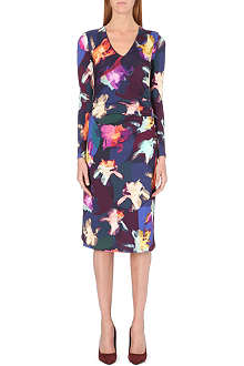 PAUL SMITH BLACK Floral-print jersey dress