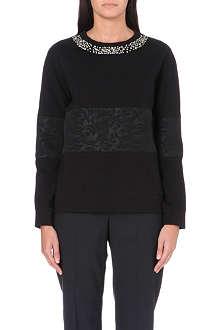 PAUL SMITH BLACK Jewel embellished jersey top