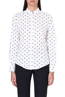 PAUL SMITH BLACK Floral-print cotton shirt