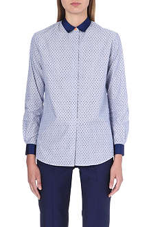 PAUL SMITH BLACK Polka dot slim-fit cotton shirt