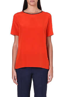 PAUL SMITH BLACK Short-sleeved silk top