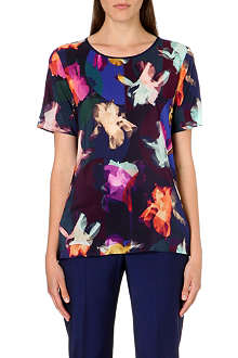 PAUL SMITH BLACK Floral silk t-shirt