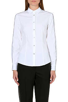 PAUL SMITH BLACK Contrast-piping stretch-cotton shirt