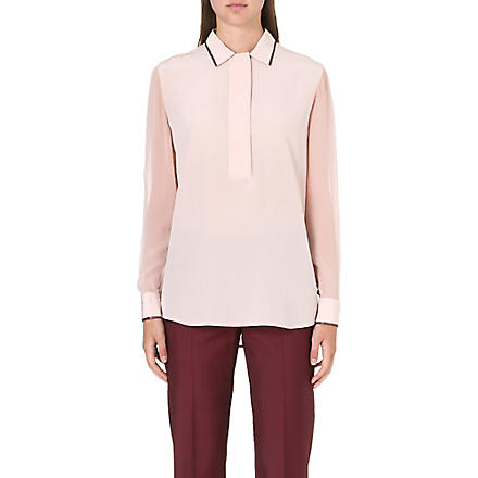 PAUL SMITH BLACK Long-sleeved silk shirt (Pink