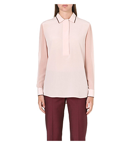 PAUL SMITH BLACK Long-sleeved silk shirt (Pink