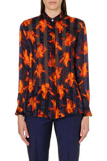 PAUL SMITH BLACK Iris Stripe silk shirt