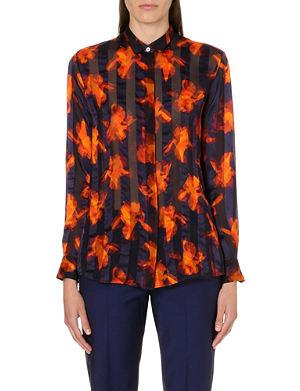 PAUL SMITH BLACK Iris Stripe silk shirt