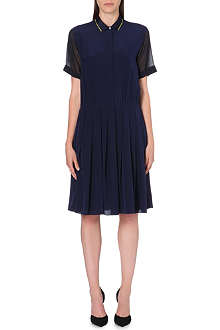 PAUL SMITH BLACK Pleated silk dress