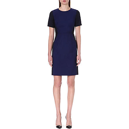 PAUL SMITH BLACK Tailored wool and mohair-blend dress (Blue