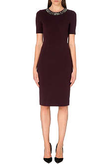 PAUL SMITH BLACK Embellished-detail stretch-jersey shift dress