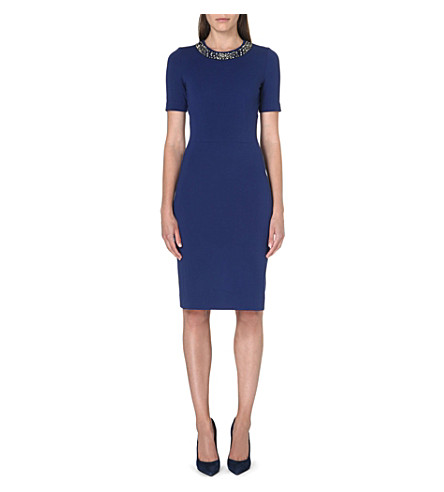 PAUL SMITH BLACK Fitted embellished dress (Blue