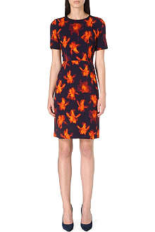 PAUL SMITH BLACK Iris-print stretch-crepe dress