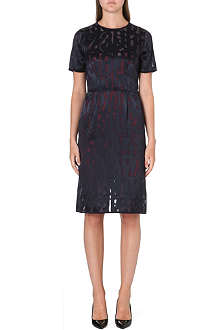 PAUL SMITH BLACK Silk-detail devore dress
