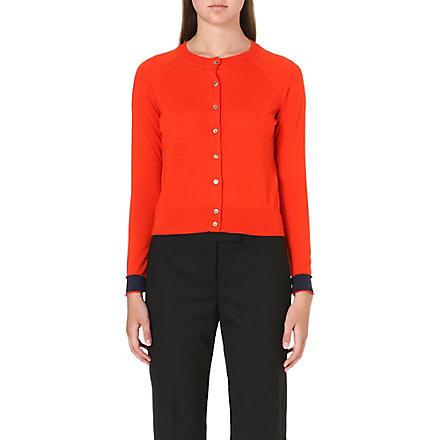 PAUL SMITH BLACK Long-sleeved wool cardigan (Orange