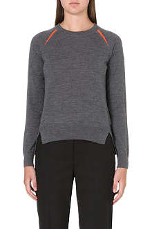 PAUL SMITH BLACK Contrast-panel wool jumper