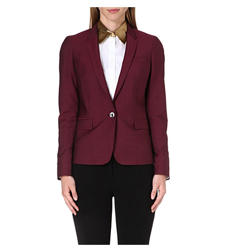 PAUL SMITH BLACK Wool-blend blazer (Burgundy