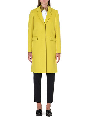 PAUL SMITH BLACK Wool and cashmere blend coat