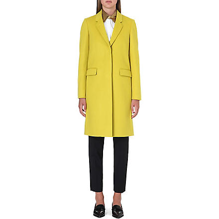 PAUL SMITH BLACK Wool and cashmere blend coat (Lime