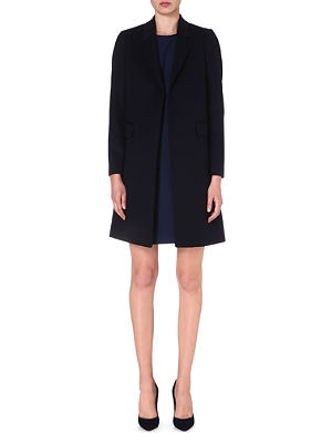 PAUL SMITH BLACK Wool and cashmere-blend coat