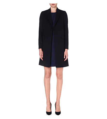 PAUL SMITH BLACK Wool and cashmere-blend coat (Navy