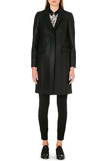 PAUL SMITH BLACK Coated wool-blend coat