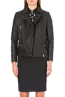 PAUL SMITH BLACK Chunky leather biker jacket