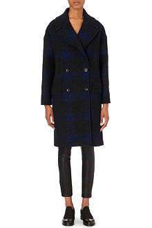 PAUL SMITH BLACK Oversized checked coat