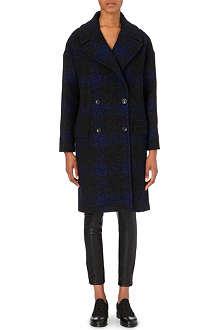 PAUL SMITH BLACK Oversized checked coat