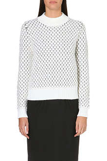 PAUL SMITH BLACK Waffle knit circle jumper