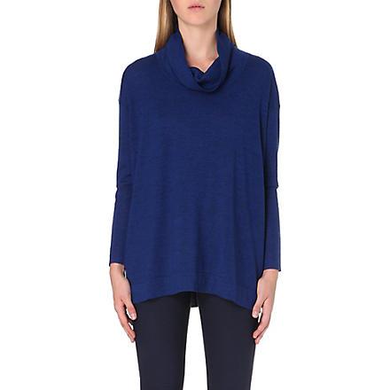 PAUL SMITH BLACK Contrast-trim wool jumper (Blue