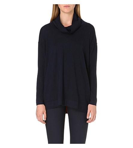 PAUL SMITH BLACK Contrast-trim wool jumper (Navy
