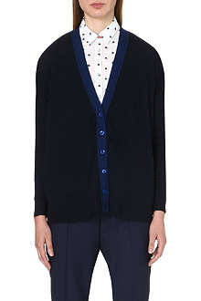 PAUL SMITH BLACK Contrast-trim wool cardigan