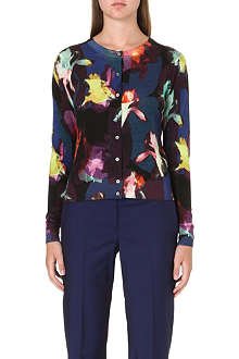 PAUL SMITH BLACK Floral wool-blend cardigan