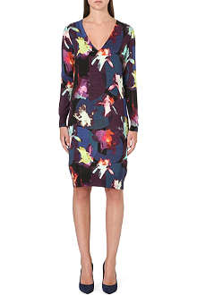 PAUL SMITH BLACK Knitted floral-print dress