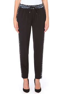 PAUL SMITH PAUL Polka dot trim trousers
