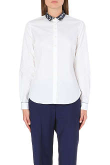 PAUL SMITH PAUL Contrast-collar cotton shirt