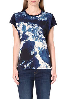 PAUL SMITH PAUL Abstract print jersey top