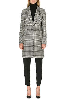 PAUL SMITH PAUL Herringbone wool-blend coat