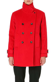 PAUL SMITH PAUL Double-breasted wool-blend peacoat