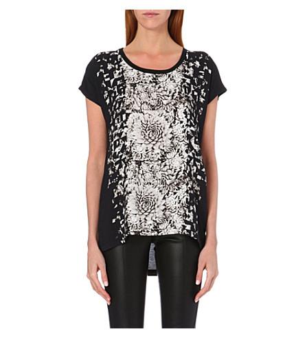 PAUL SMITH PAUL Graphic floral-print t-shirt (Black