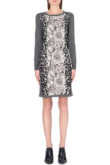 PAUL SMITH PAUL Printed-panel knitted dress