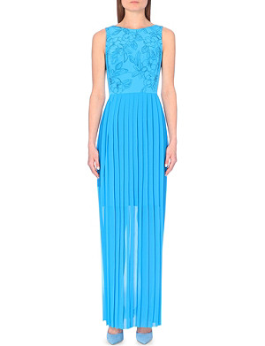 PAUL SMITH BLACK Flower embroidered maxi dress