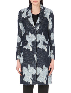 PAUL SMITH BLACK Patterned textured coat